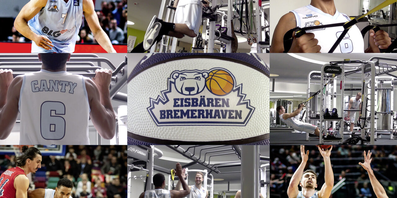 Bremerhavens Basketballprofis  im outfit Bremerhaven