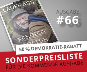 LAUFPASS Sonderpreisliste - Mediadaten - Ausgabe Nr. 66