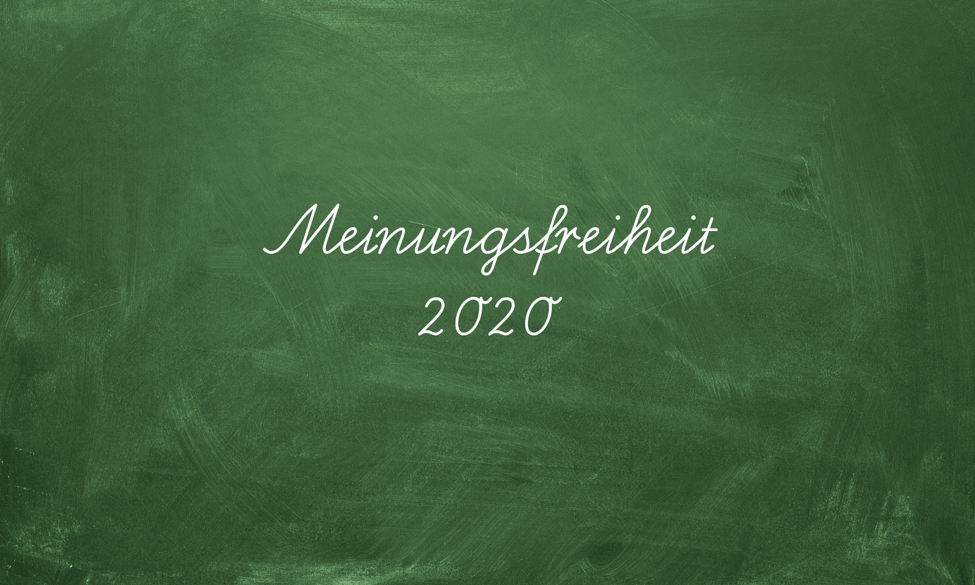 Meinungsfreiheit 2020