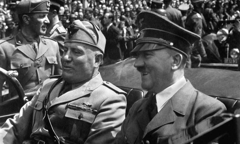 Benito Mussolini und Adolf Hitler