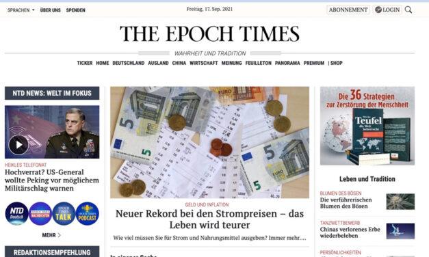 Lese-Empfehlung: Epoch Times gedruckt & Online